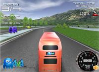 Гонка на английском двухэтажном автобусе (English Bus Racing) — онлайн флеш-игра